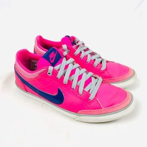 Nike hot neon pink sneakers tennis shoes